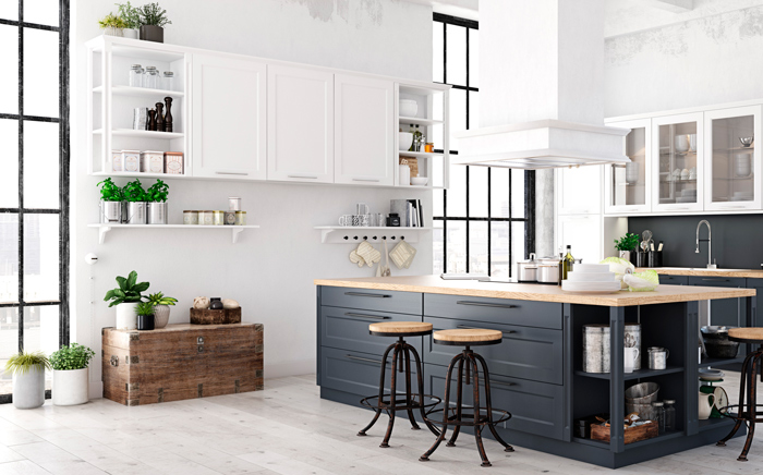 Κουζίνα σε σκανδιναβικό στυλ για μεγαλύτερη τάξη και καθαριότητα