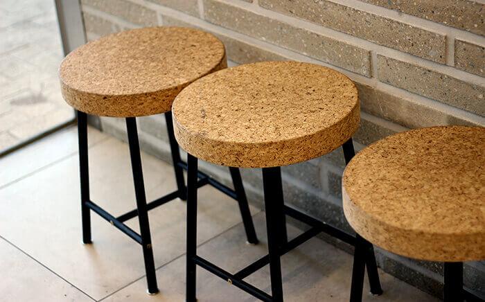 Cork material in kitchen design