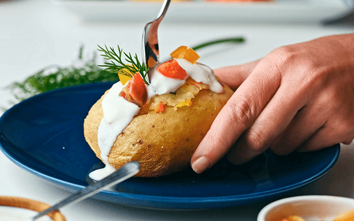 patata rellena microondas