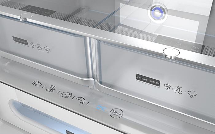 Interior de frigorífico Teka con cajones para la humedad vacíos