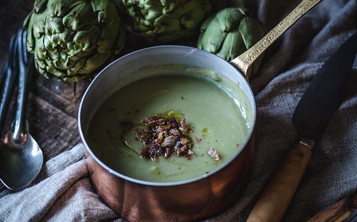 crema alcachofas receta