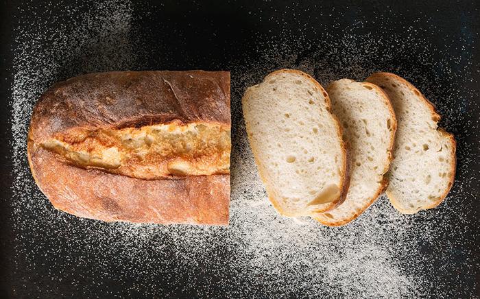 pan irlandés cortado en rodajas
