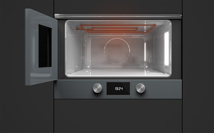 microondas Teka con grill con la puerta abierta