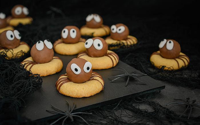 galletas araña halloween