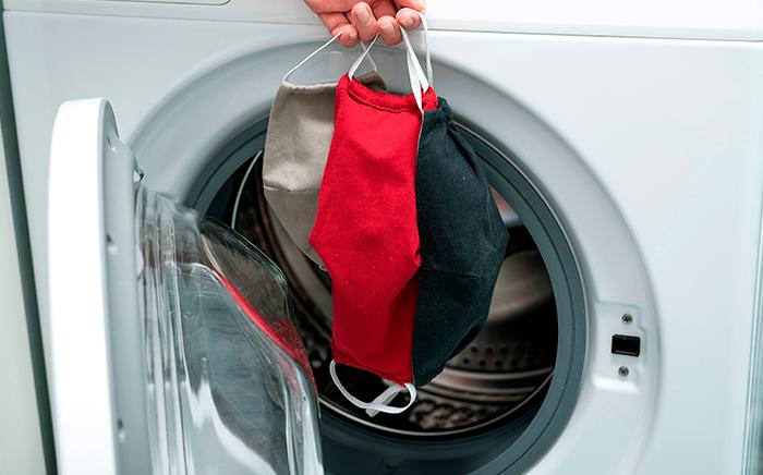 lavar mascarillas tela lavadora