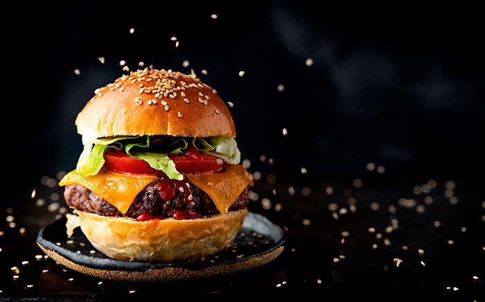 hamburguesa con sésamo