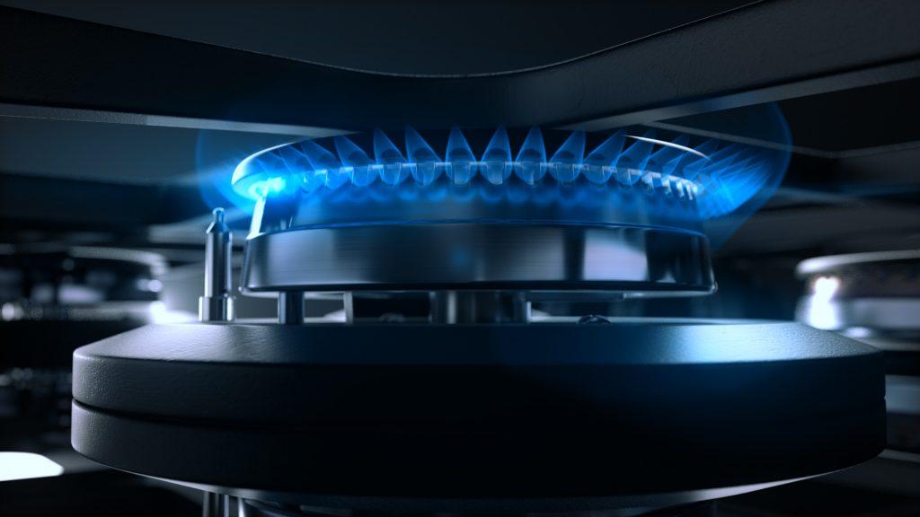 Płyty indukcyjno-gazowe - część gazowa