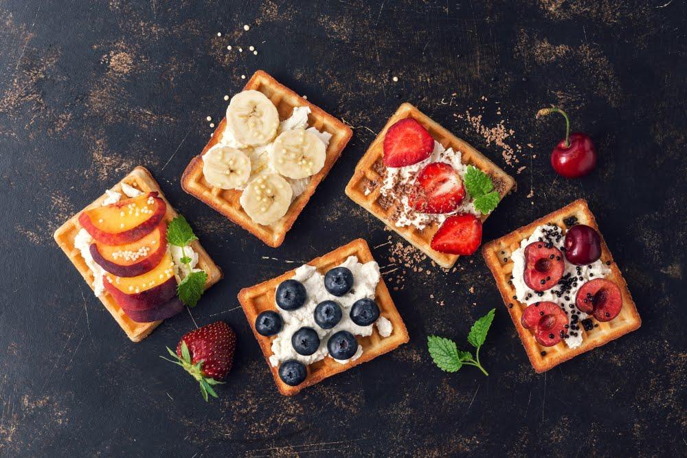 gofry z owocami